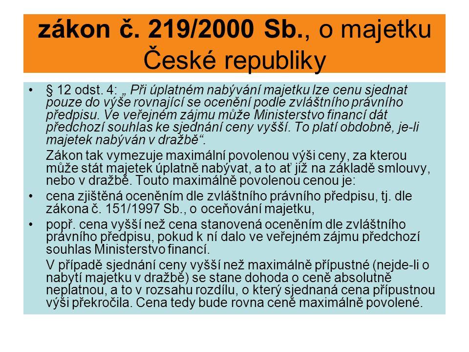 zákon č. 219/2000 Sb., o majetku České republiky