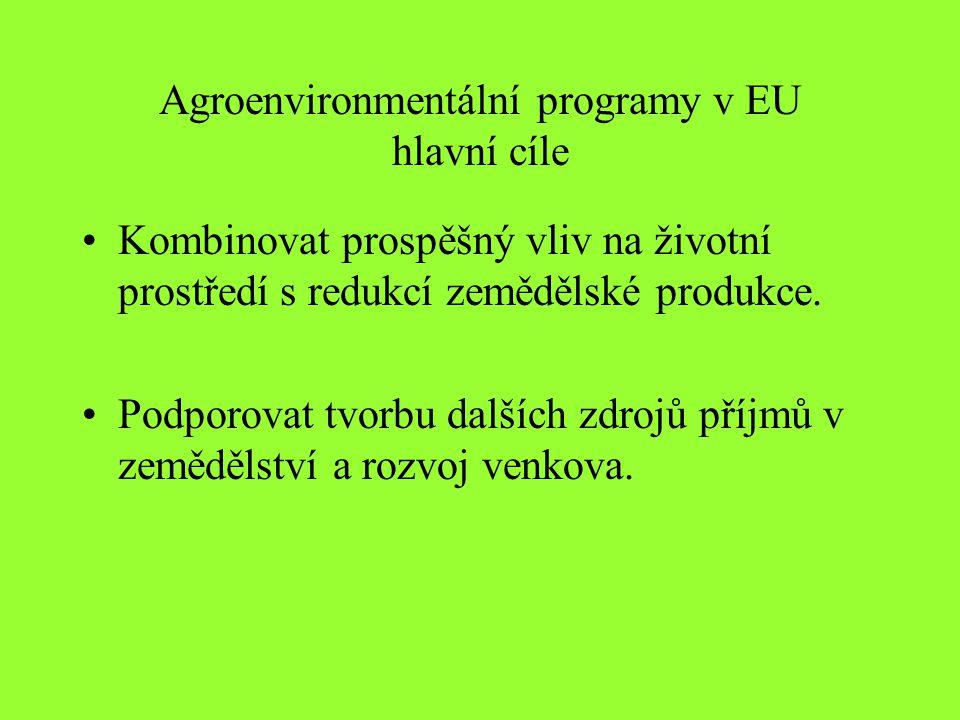 Agroenvironmentální programy v EU hlavní cíle