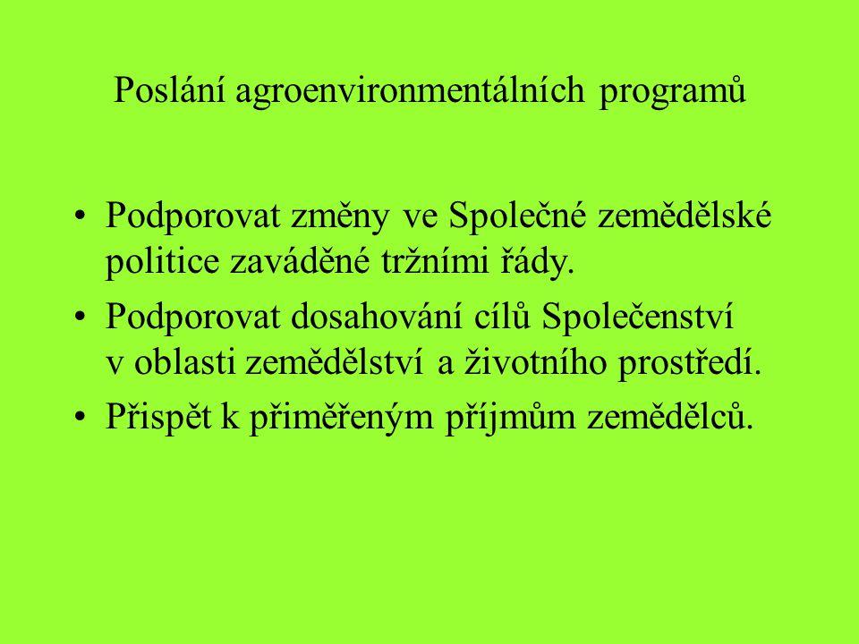 Poslání agroenvironmentálních programů