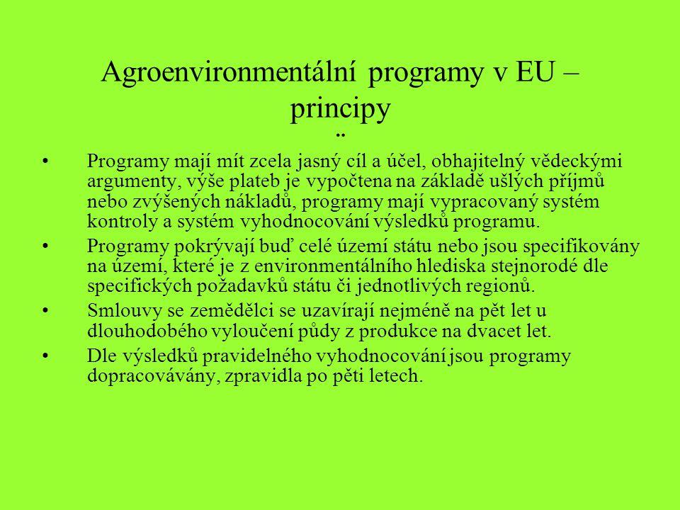 Agroenvironmentální programy v EU – principy ¨