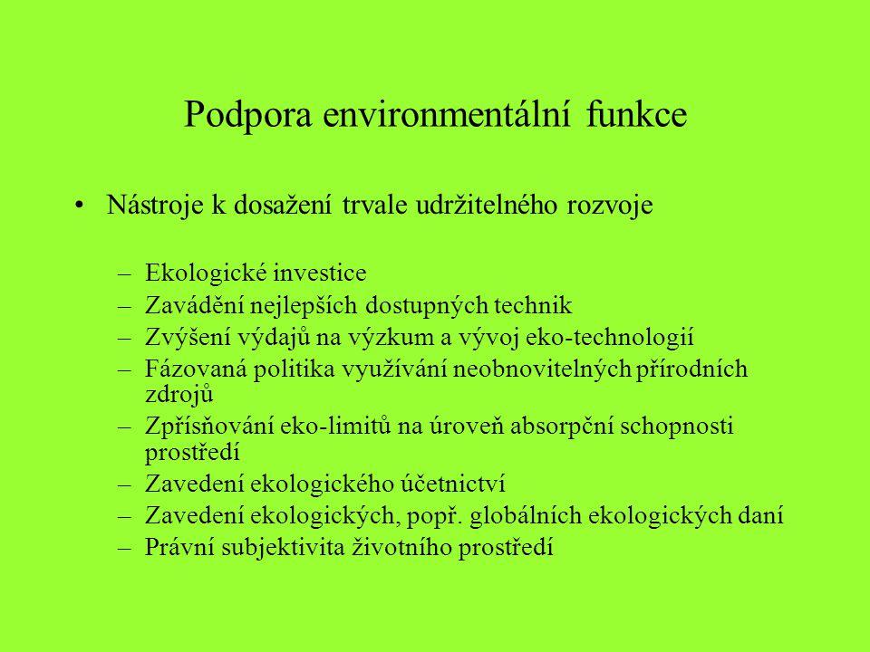 Podpora environmentální funkce