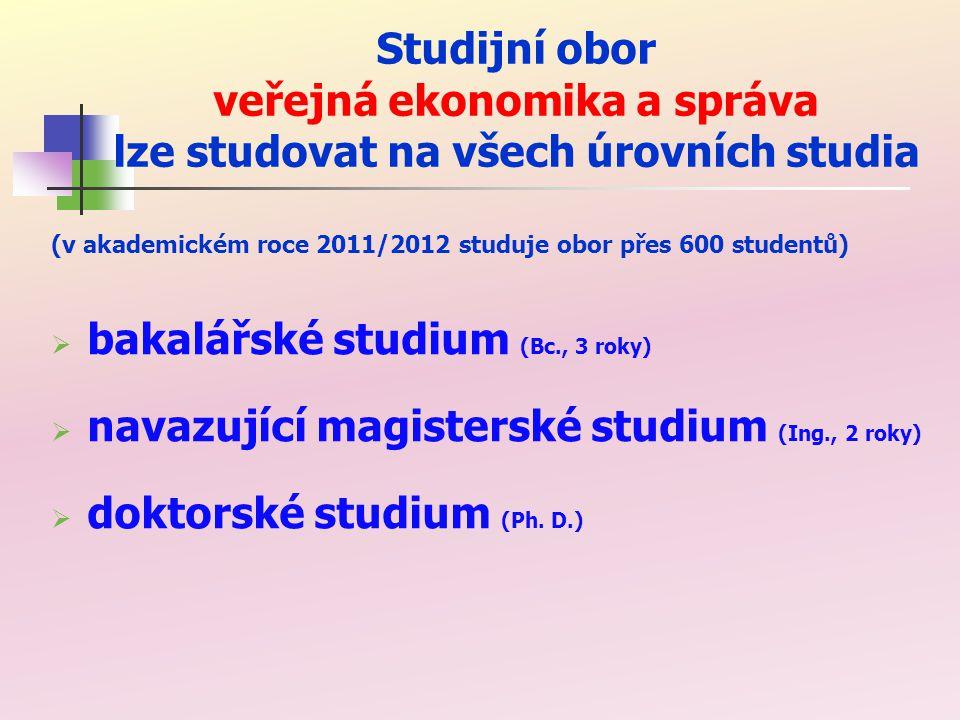 bakalářské studium (Bc., 3 roky)