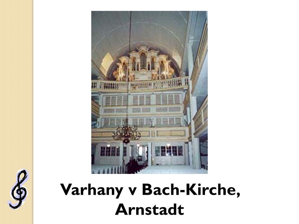 Varhany v Bach-Kirche, Arnstadt