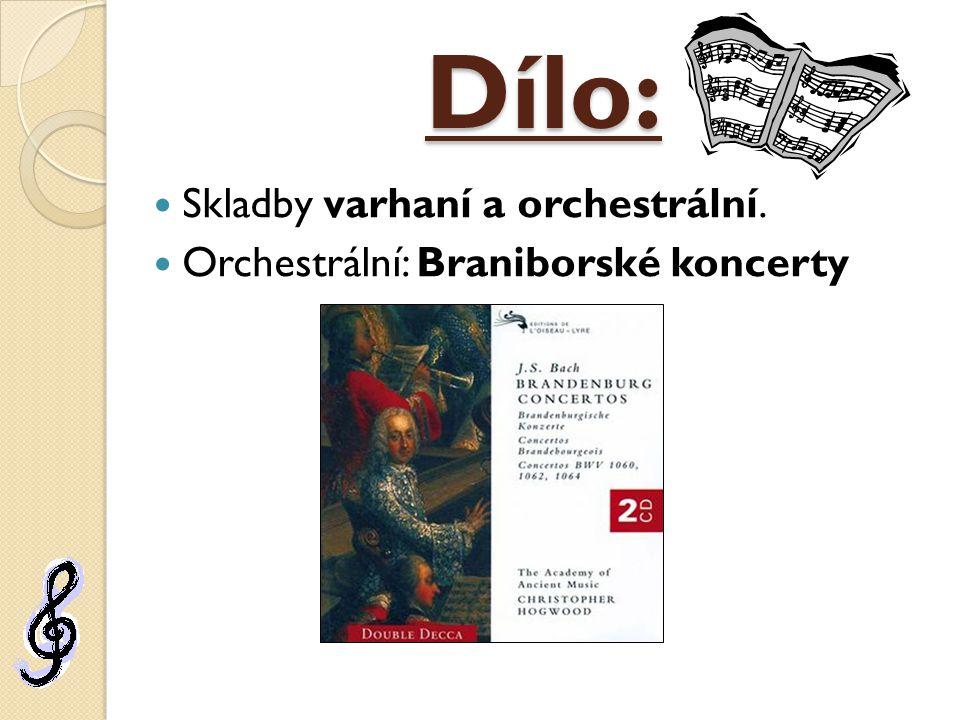 Dílo: Skladby varhaní a orchestrální.