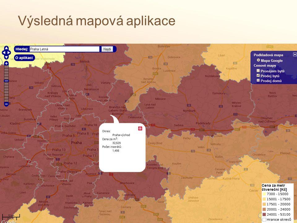 Výsledná mapová aplikace