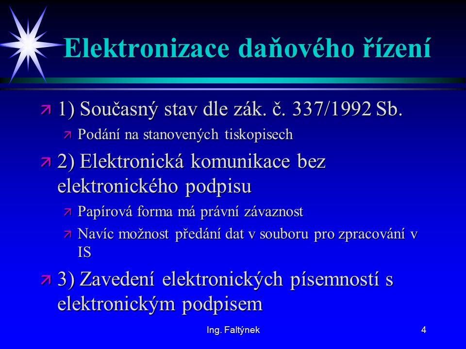 Elektronizace daňového řízení