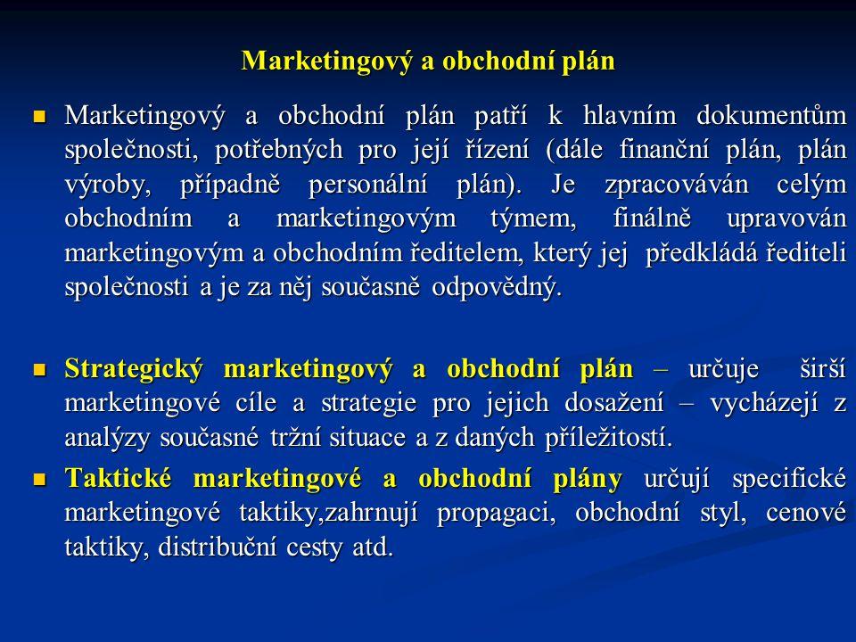Marketingový a obchodní plán
