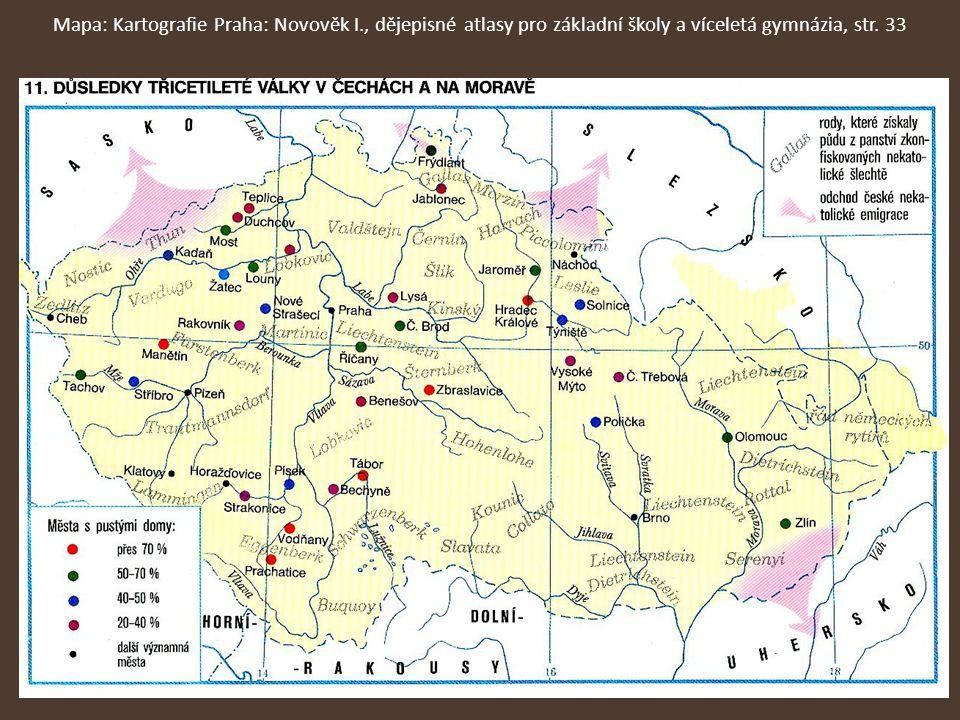 Mapa: Kartografie Praha: Novověk I