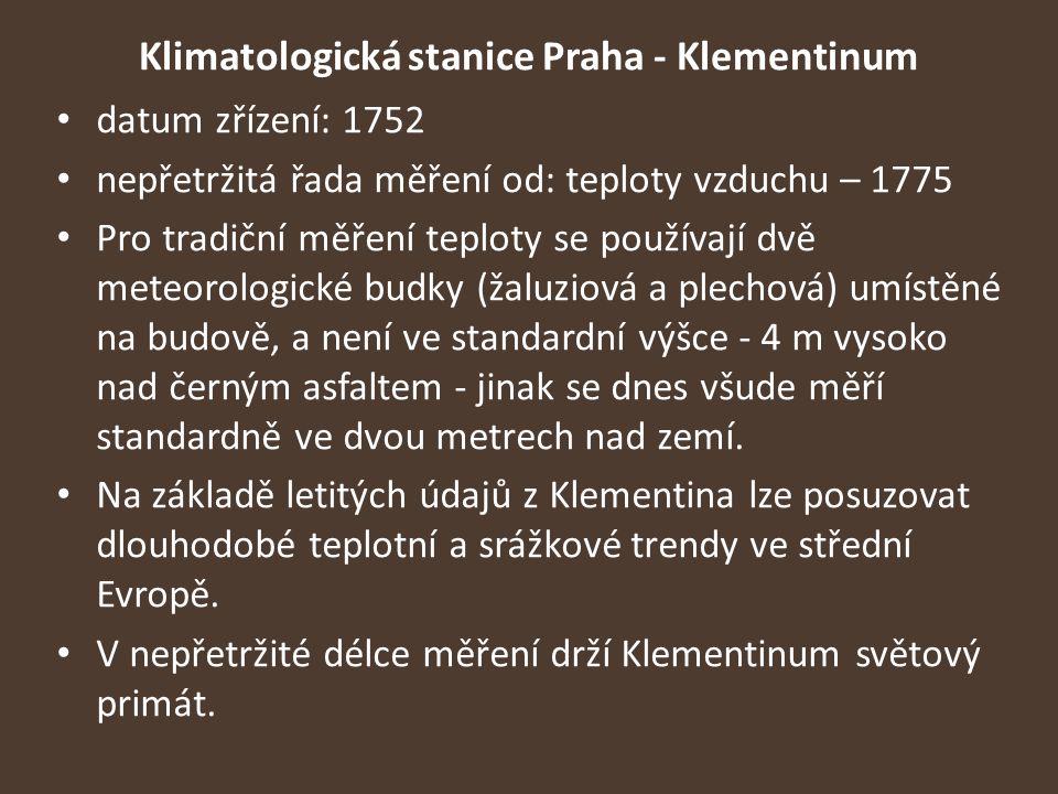 Klimatologická stanice Praha - Klementinum