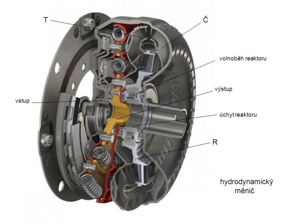 T Č R hydrodynamický měnič volnoběh reaktoru výstup vstup