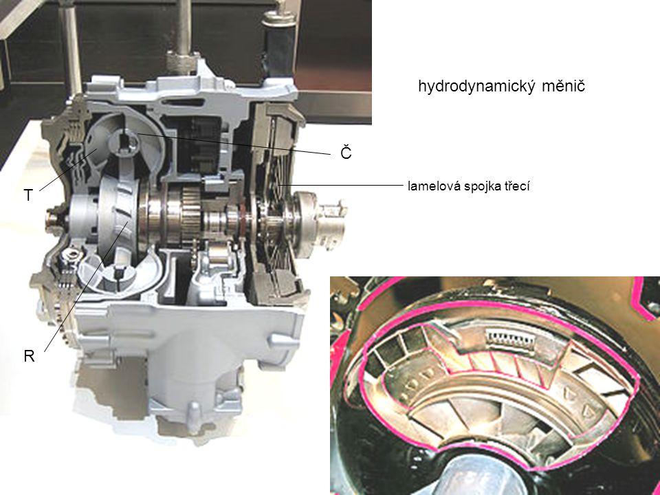 hydrodynamický měnič Č lamelová spojka třecí T R