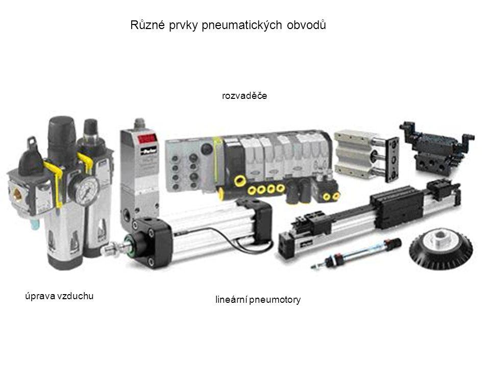 Různé prvky pneumatických obvodů