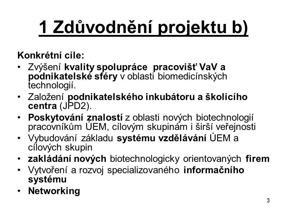 1 Zdůvodnění projektu b)