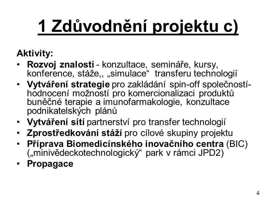 1 Zdůvodnění projektu c)