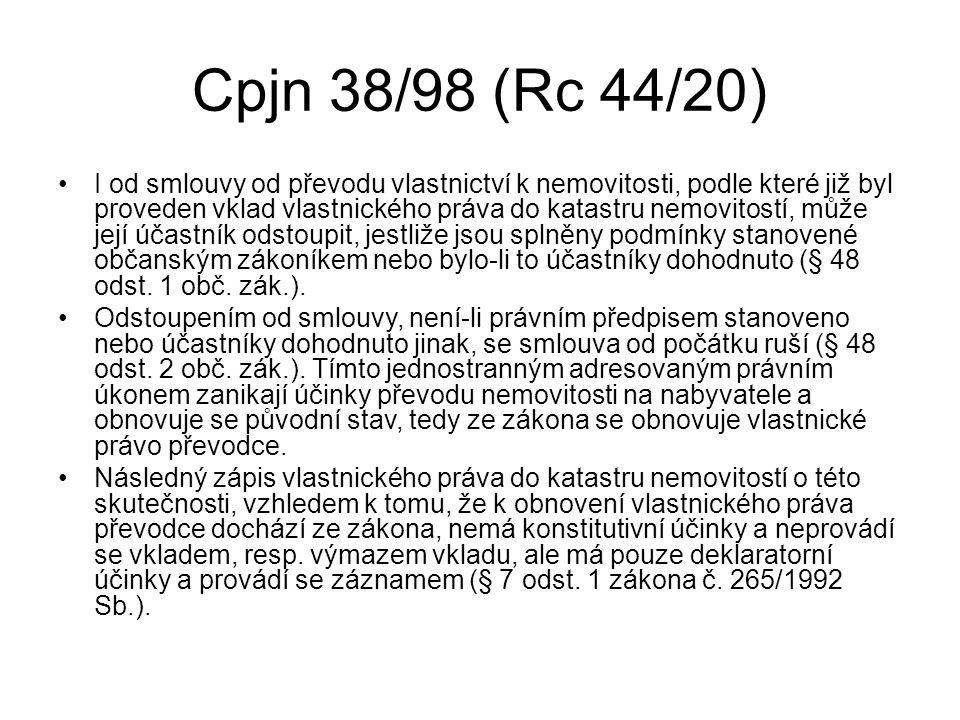 Cpjn 38/98 (Rc 44/20)
