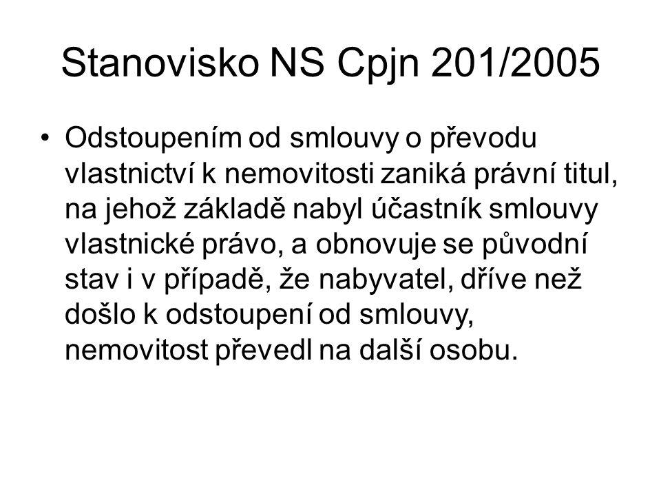 Stanovisko NS Cpjn 201/2005