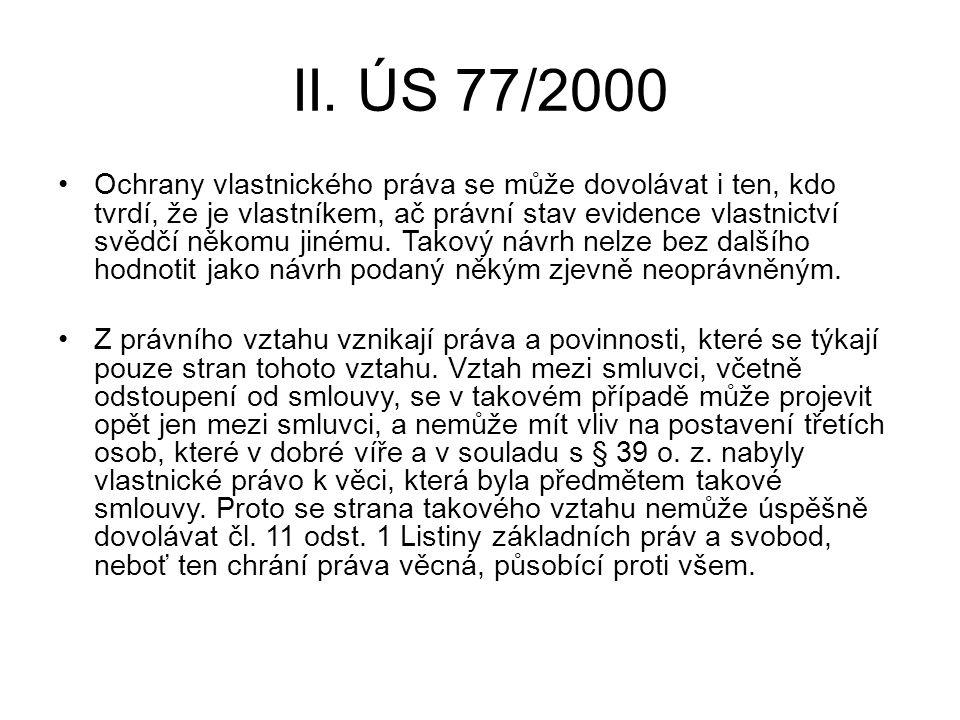 II. ÚS 77/2000