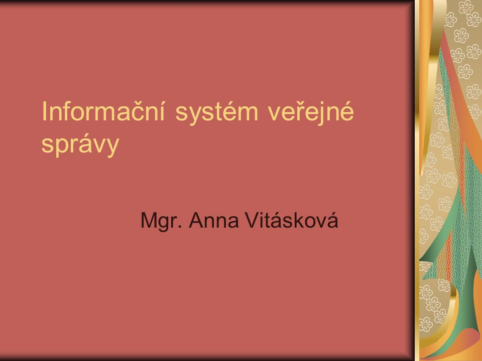 Informační systém veřejné správy
