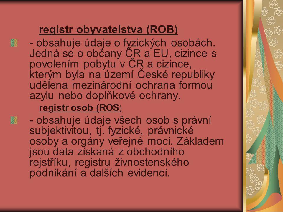 registr obyvatelstva (ROB)