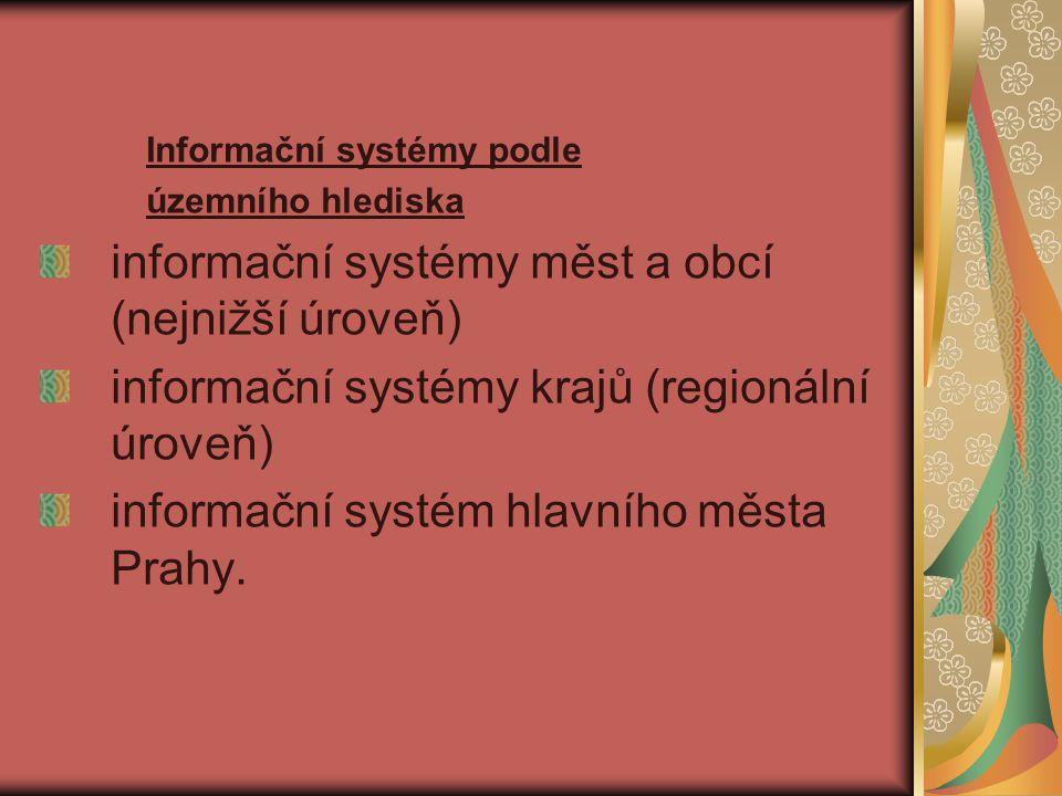 informační systémy měst a obcí (nejnižší úroveň)