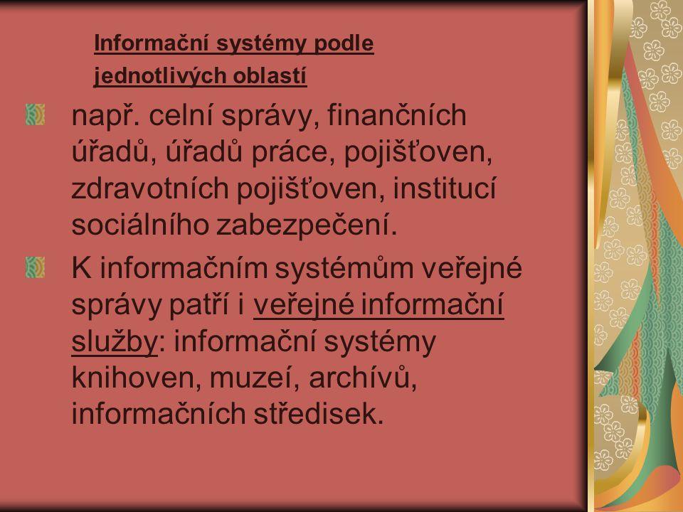 Informační systémy podle