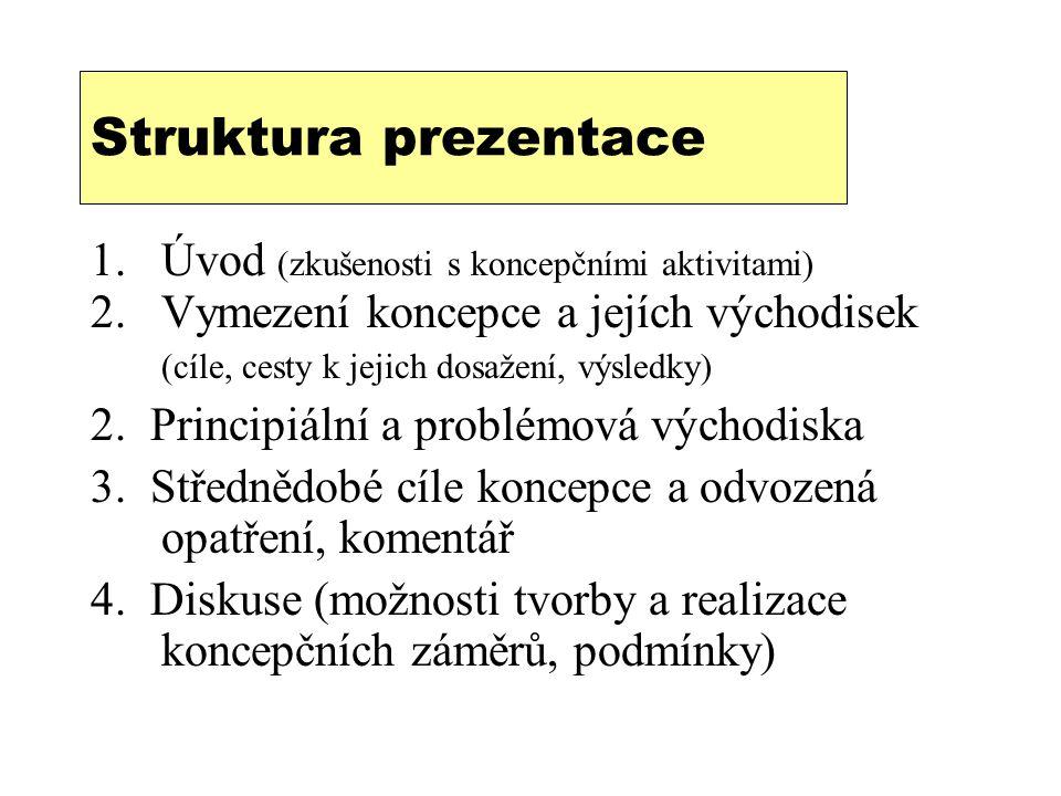 Struktura prezentace Úvod (zkušenosti s koncepčními aktivitami)