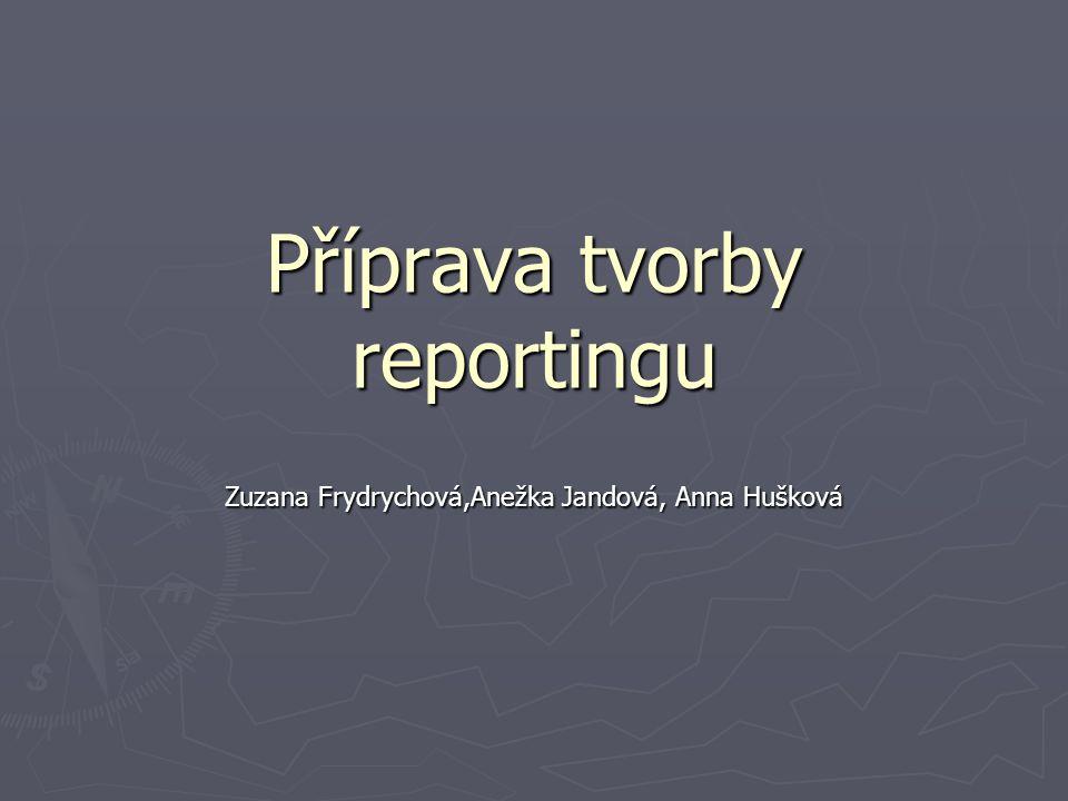 Příprava tvorby reportingu