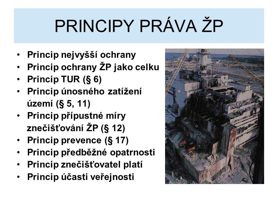 PRINCIPY PRÁVA ŽP Princip nejvyšší ochrany