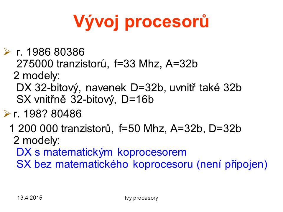 Vývoj procesorů