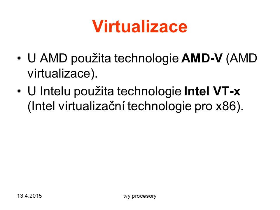 Virtualizace U AMD použita technologie AMD-V (AMD virtualizace).