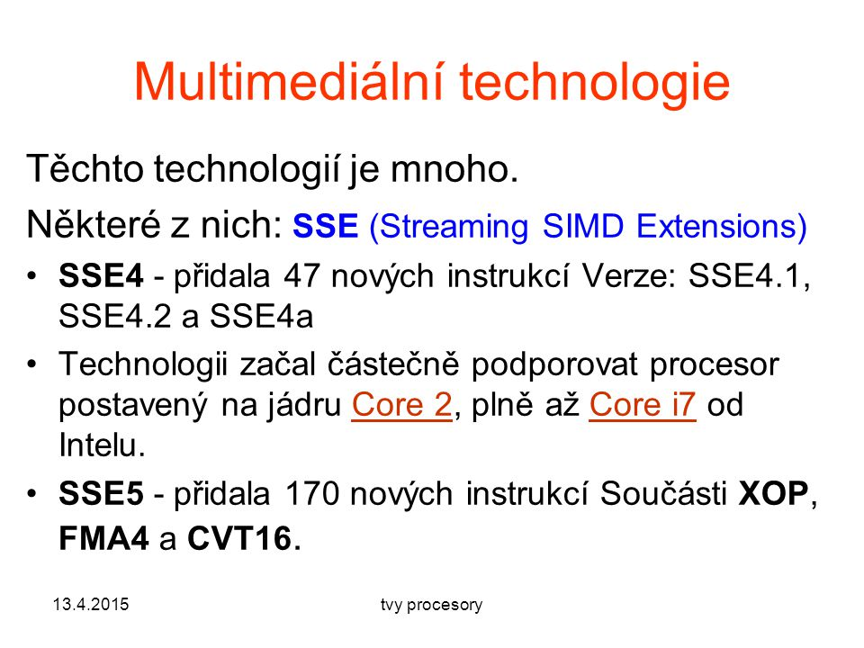Multimediální technologie
