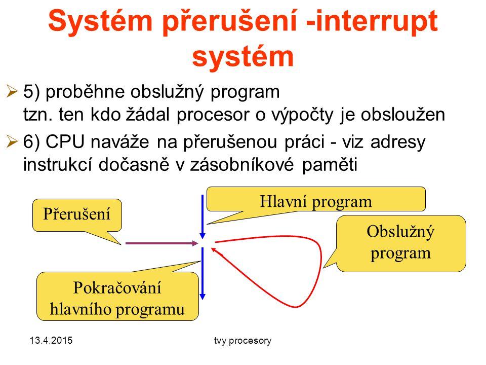 Systém přerušení -interrupt systém