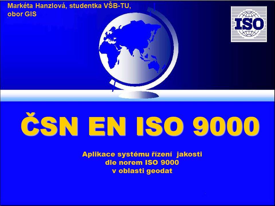 Aplikace systému řízení jakosti dle norem ISO 9000 v oblasti geodat