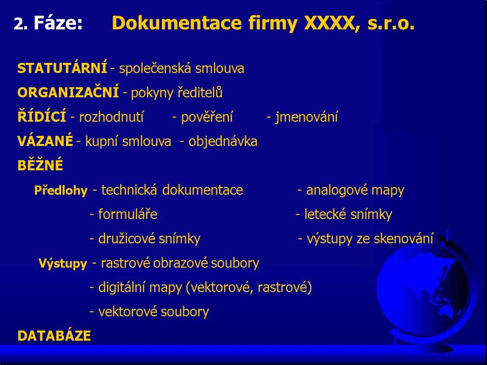 2. Fáze: Dokumentace firmy XXXX, s.r.o.