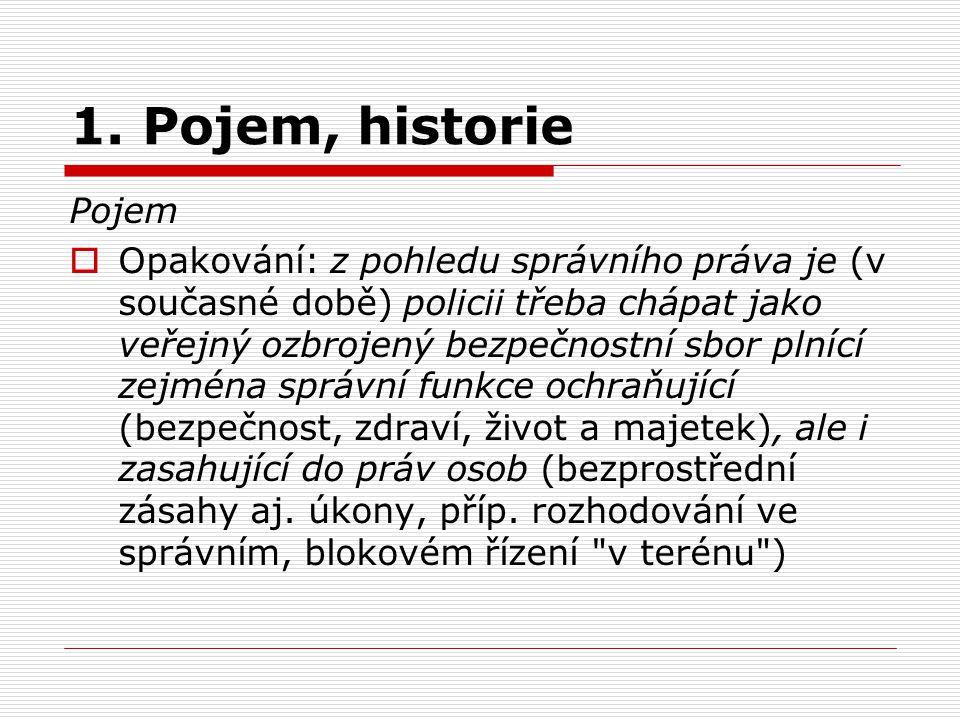 1. Pojem, historie Pojem.