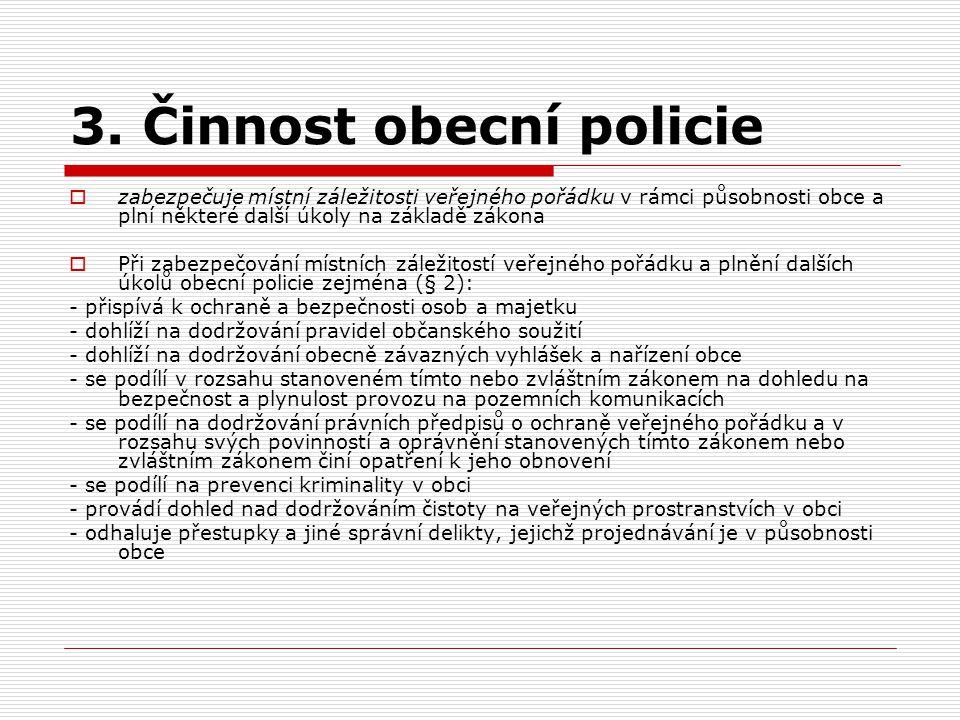 3. Činnost obecní policie