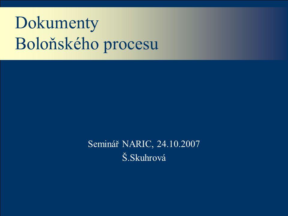 Dokumenty Boloňského procesu