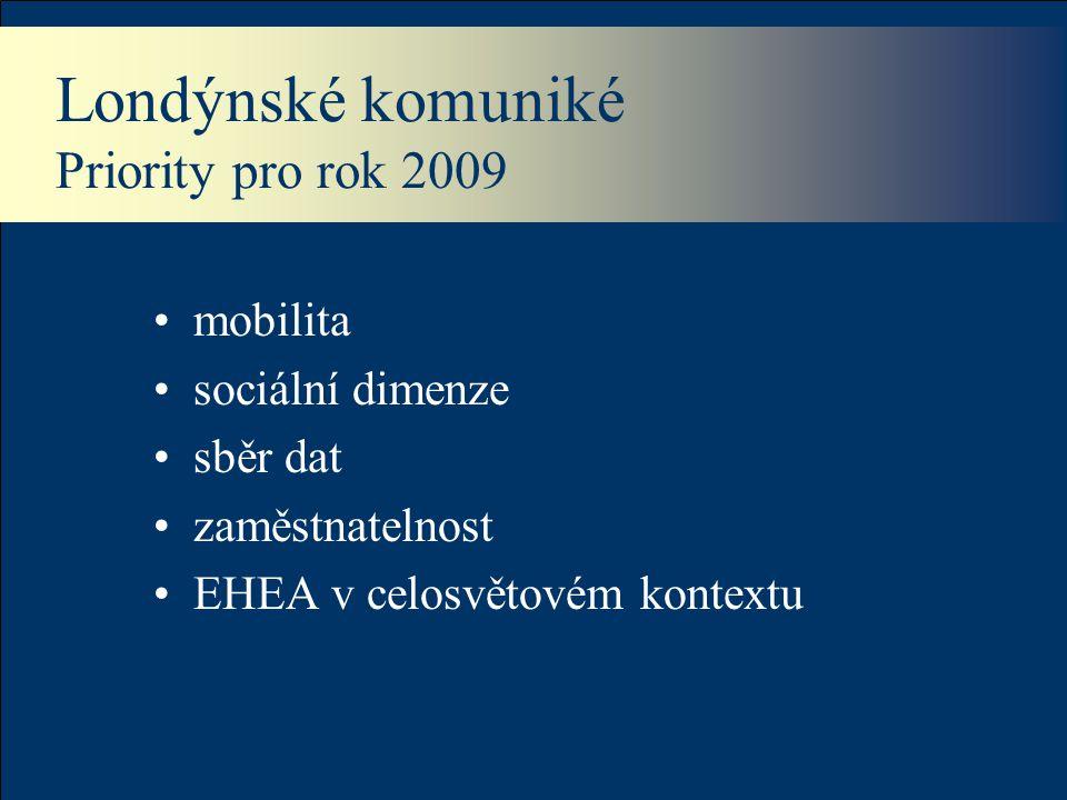 Londýnské komuniké Priority pro rok 2009