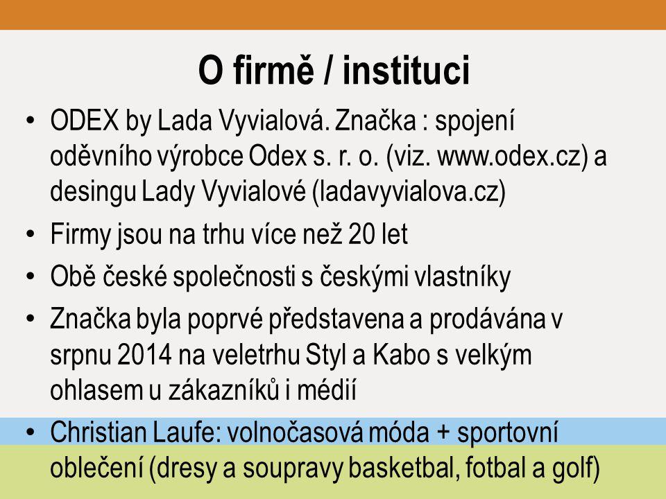 O firmě / instituci