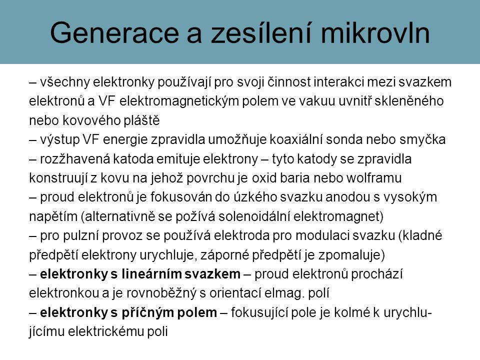 Generace a zesílení mikrovln