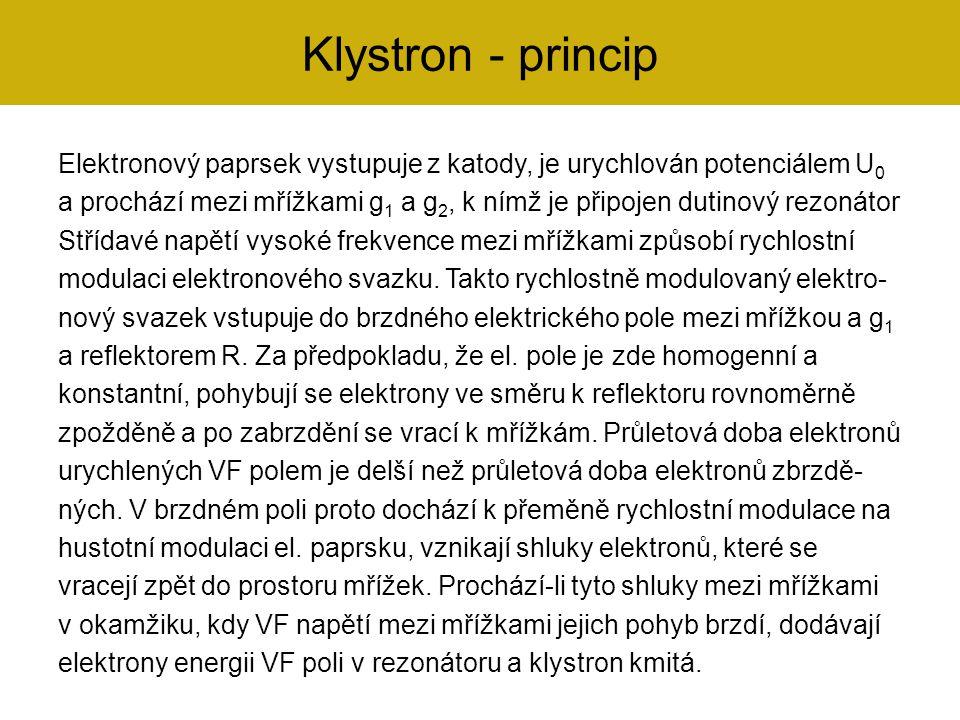 Klystron - princip
