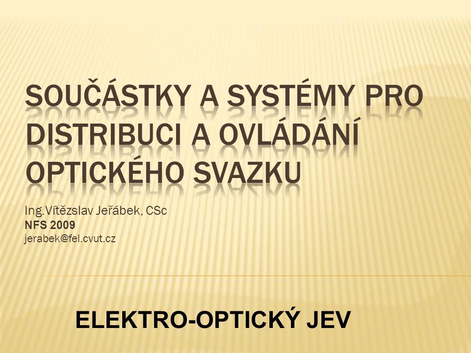 Součástky a Systémy pro distribuci a ovládání optického svazku