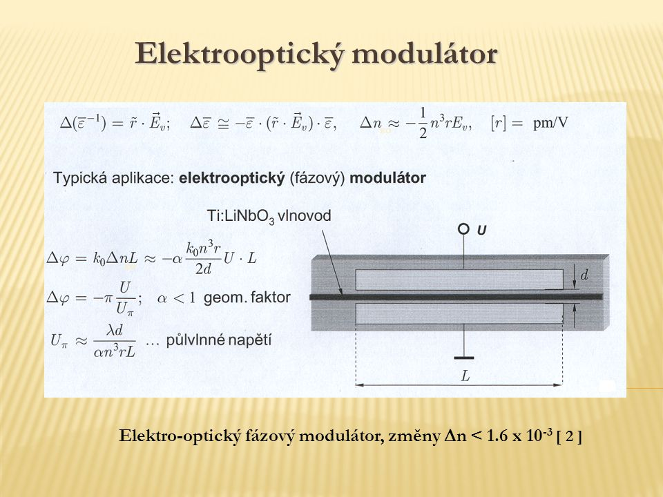Elektrooptický modulátor
