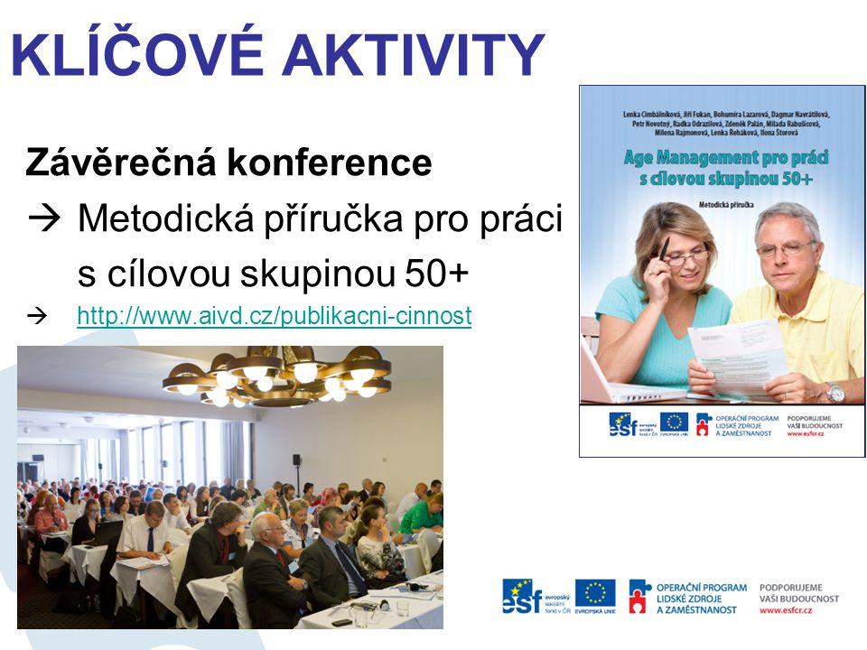 Klíčové aktivity Závěrečná konference Metodická příručka pro práci