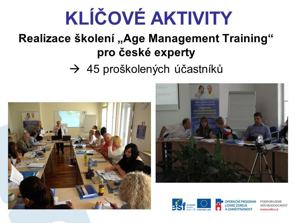 """Realizace školení """"Age Management Training pro české experty"""