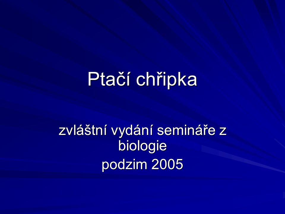 zvláštní vydání semináře z biologie podzim 2005