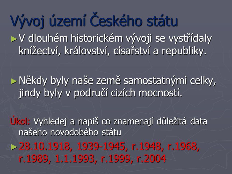 Vývoj území Českého státu