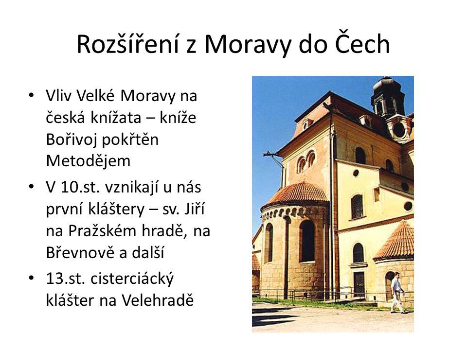 Rozšíření z Moravy do Čech
