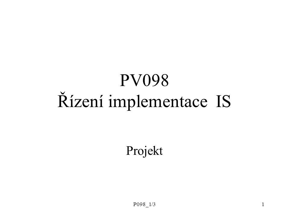 PV098 Řízení implementace IS