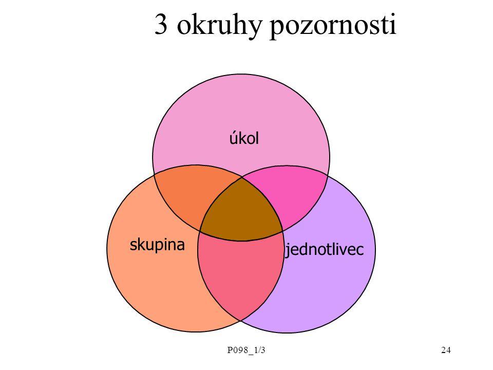 3 okruhy pozornosti úkol skupina jednotlivec P098_1/3